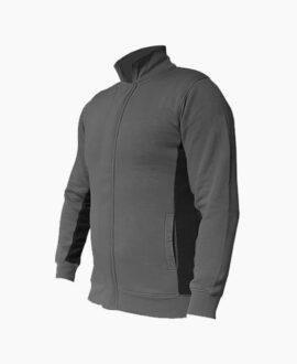 Felpa bicolore con zip frontale 898SG   Seba Group Shop