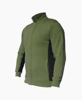 Felpa bicolore con zip frontale 898SV   Seba Group Shop