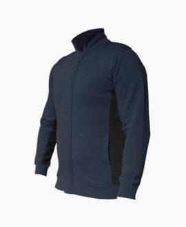 Felpa bicolorecon zip frontale 898SB   Seba Group Shop