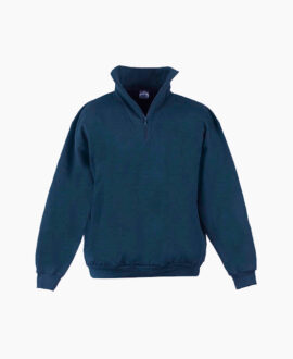 Felpa blue mezza zip 898_3   Seba Group Shop