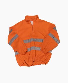 Giacca pile arancio con mezza zip alta visibilità 898AV | Seba Group Shop